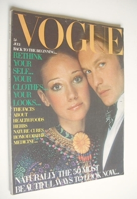 <!--1970-07-->British Vogue magazine - July 1970 - Marisa Berenson and Helm