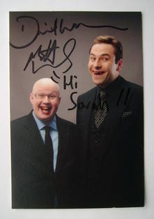 David Walliams and Matt Lucas autograph (hand-signed photograph, dedicated)