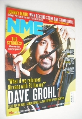 <!--2013-03-23-->NME magazine - Dave Grohl cover (23 March 2013)
