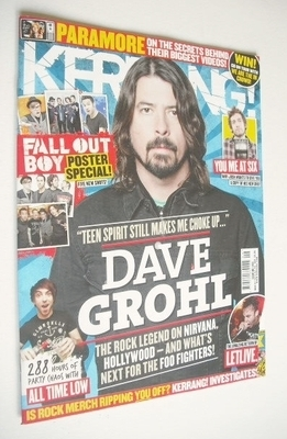 <!--2013-03-02-->Kerrang magazine - Dave Grohl cover (2 March 2013 - Issue