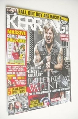<!--2013-02-09-->Kerrang magazine - Bullet For My Valentine cover (9 Februa