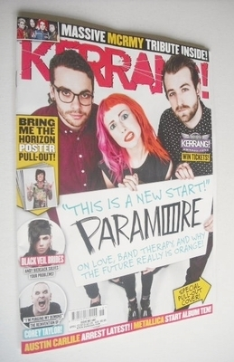 <!--2013-04-13-->Kerrang magazine - Paramore cover (13 April 2013 - Issue 1