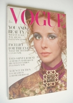 British Vogue magazine - 1 October 1969 - Maudie James cover