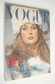British Vogue magazine - 15 September 1969 - Jean Shrimpton cover