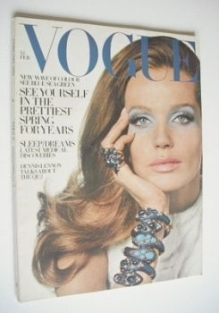 British Vogue magazine - February 1969 - Veruschka cover