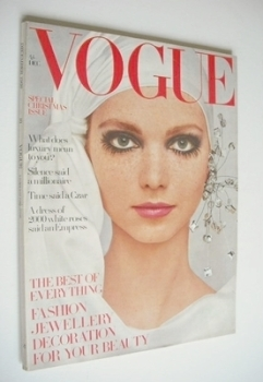British Vogue magazine - December 1968 - Lesley Jones cover