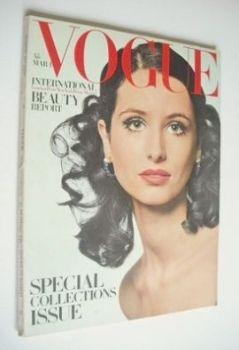 British Vogue magazine - 1 March 1968 - Annabella Pearson-Gee cover