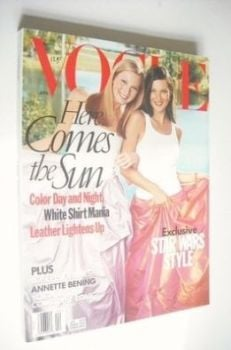 US Vogue magazine - April 1999 - Kate Moss and Maggie Rizer cover