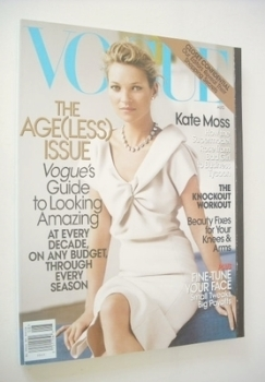 US Vogue magazine - August 2008 - Kate Moss cover