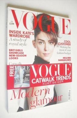 <!--2013-02-->British Vogue magazine - February 2013 - Kati Nescher cover