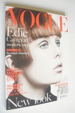 <!--2013-04-->British Vogue magazine - April 2013 - Edie Campbell cover