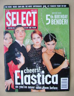 SELECT magazine - Elastica cover (June 1995)