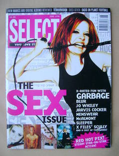 SELECT magazine - Shirley Manson cover (June 1996)