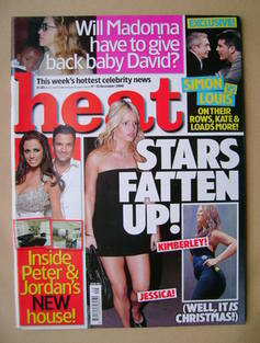 <!--2006-12-09-->Heat magazine - Stars Fatten Up cover (9-15 December 2006