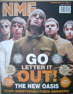 <!--2000-02-19-->NME magazine - Oasis cover (19 February 2000)