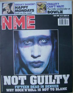 NME magazine - Marilyn Manson cover (1 May 1999)