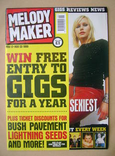 Melody Maker magazine - Nina Persson cover (17-23 November 1999)