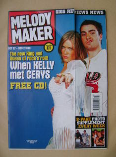 <!--1999-10-27-->Melody Maker magazine - Cery Matthews and Kelly Jones cover (27 October-2 November 1999)