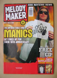<!--1999-11-03-->Melody Maker magazine - Nicky Wire cover (3-9 November 199