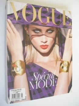 French Paris Vogue magazine - September 2008 - Anna Selezneva cover
