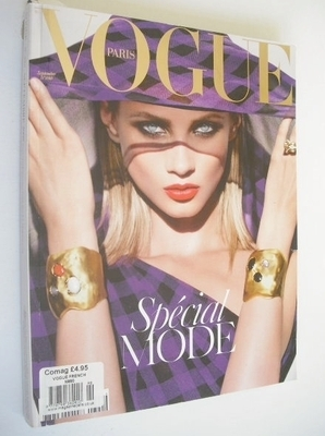 <!--2008-09-->French Paris Vogue magazine - September 2008 - Anna Selezneva