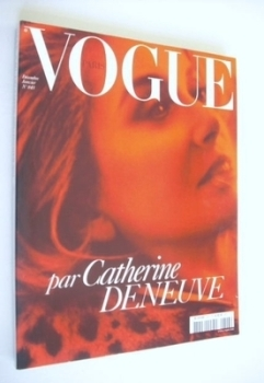 French Paris Vogue magazine - December 2003/January 2004 - Catherine Deneuve cover