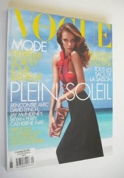 French Paris Vogue magazine - March 2007 - Natasha Poly cover