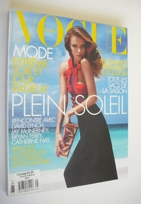 <!--2007-03-->French Paris Vogue magazine - March 2007 - Natasha Poly cover
