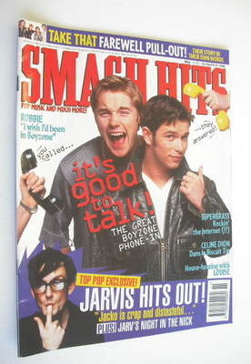 <!--1996-03-13-->Smash Hits magazine - Ronan Keating and Stephen Gately cov
