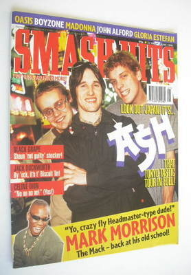 <!--1996-05-22-->Smash Hits magazine - Ash cover (22 May - 4 June 1996)
