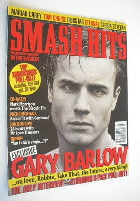 <!--1996-07-03-->Smash Hits magazine - Gary Barlow cover (3-16 July 1996)