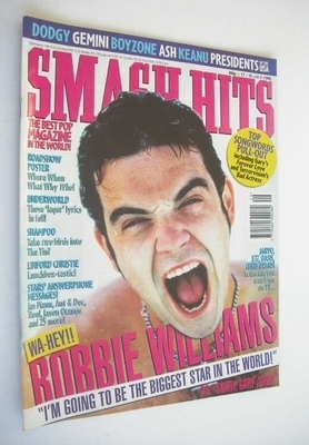 <!--1996-07-17-->Smash Hits magazine - Robbie Williams cover (17-30 July 19