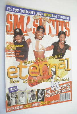 <!--1996-07-31-->Smash Hits magazine - Eternal cover (31 July - 13 August 1