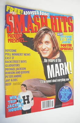 <!--1996-11-06-->Smash Hits magazine - Mark Owen cover (6-19 November 1996)