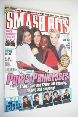 <!--1999-03-24-->Smash Hits magazine - Billie, Edele, Cleo and Claire cover