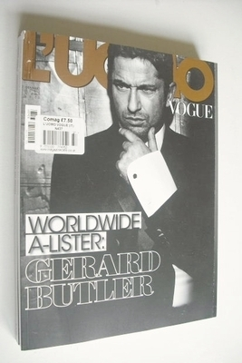 <!--2013-01-->L'Uomo Vogue magazine - January 2013 - Gerard Butler cover