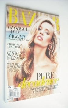 Harper's Bazaar Australia magazine - December 2012 - Georgia May Jagger cover