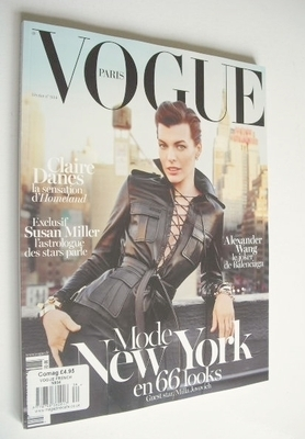 <!--2013-02-->French Paris Vogue magazine - February 2013 - Milla Jovovich