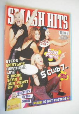 <!--2000-05-17-->Smash Hits magazine - S Club 7 cover (17 May 2000)