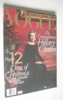 US Vogue magazine - December 1998 - Hillary Clinton cover