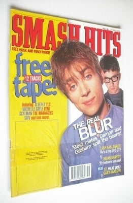 <!--1996-05-08-->Smash Hits magazine - Blur cover (8-21 May 1996)