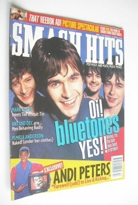 <!--1996-03-27-->Smash Hits magazine - The Bluetones cover (27 March - 9 Ap