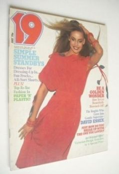 19 magazine - July 1976 - Jerry Hall cover
