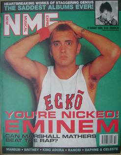 <!--2000-08-12-->NME magazine - Eminem cover (12 August 2000)