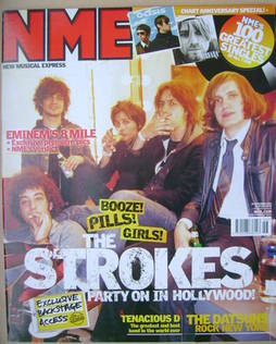 <!--2002-11-16-->NME magazine - The Strokes cover (16 November 2002)