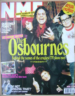 <!--2002-05-25-->NME magazine - The Osbournes cover (25 May 2002)