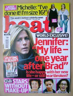 <!--2005-11-26-->Heat magazine - Jennifer Aniston cover (26 November-2 Dece
