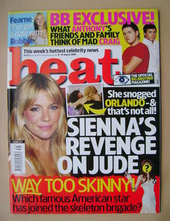 <!--2005-08-06-->Heat magazine - Sienna Miller cover (6-12 August 2005 - Is