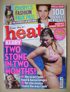<!--2009-06-27-->Heat magazine - Kerry Katona cover (27 June-3 July 2009 -