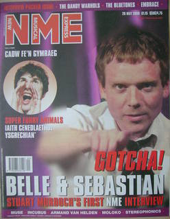 <!--2000-05-20-->NME magazine - Stuart Murdoch cover (20 May 2000)